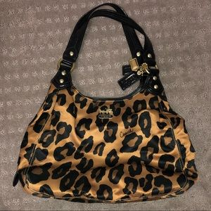 Leopard Print Coach Purse